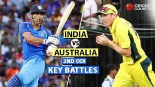 India vs Australia 2017-18, 2nd ODI at Kolkata: Virat Kohli vs Nathan Coulter-Nile, MS Dhoni vs James Faulkner and other key battles
