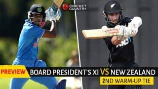 India vs New Zealand 2017-18: Visitors aim for improved show vs Board President's XI