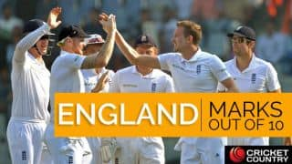 India vs England, Test series: Visitors' marks out of 10