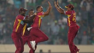 Samuel Badree, Sunil Narine help West Indies crush Pakistan by 84 runs to qualify for ICC World T20 2014 semi-final