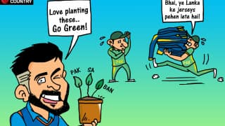 Cartoon: India 'Go Green' in Champions Trophy