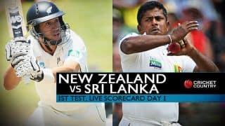 Live Cricket Scorecard, New Zealand vs Sri Lanka 2015-16, 1st Test at Dunedin