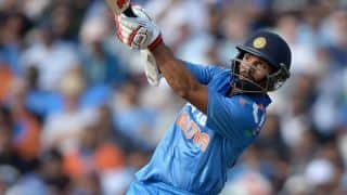 India vs England, 6th ODI in Perth: Shikhar Dhawan dismissed for 38