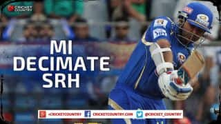 Mumbai Indians decimate Sunrisers Hyderabad by 9 wickets; qualify for IPL 2015 playoffs
