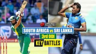 South Africa vs Sri Lanka, 3rd ODI at Johannesburg: Hashim Amla vs. Suranga Lakmal and other key battles