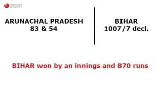 Bihar U-16s score 1007, thrash Arunachal Pradesh by innings and 870 runs!