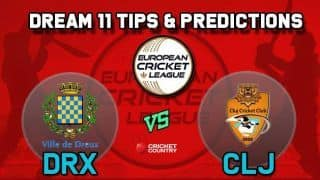 Dream11 Team DRX vs CLJ Group A European Cricket League-T10 – Cricket Prediction Tips For Today's T10 Match Dreux Cricket Club vs Cluj Cricket Club at La Manga Club