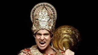 Matthew Hayden poses as Bheem from Mahabharata!