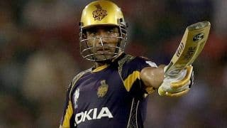 Robin Uthappa, Shakib Al Hasan's pyrotechnics take Kolkata Knight Riders to 195/4 against Royal Challangers Bangalore in IPL 2014