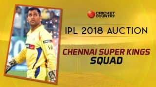 CSK squad for IPL 2018: Final list of players after auction