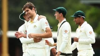 """After Virat Kohli's wicket, CA XI pacer Aaron Hardie reflects on """"surreal"""" day at the SCG"""