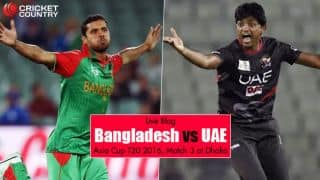 UAE 82 | Overs 17.4 | Target 134 | Live Cricket Score, Bangladesh vs UAE, Asia Cup T20 2016, Match 3 at Dhaka: Mahmudullah's all-round performance steers Bangladesh to 51-run victory