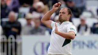 Joe Leach of Worcestershire hat-trick in first 3 balls of the match against Northamptonshire