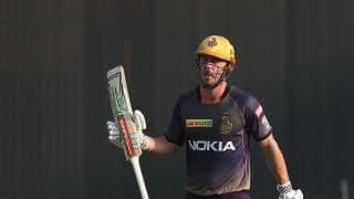क्रिस लिन के अर्धशतक से कोलकाता ने हैदराबाद के सामने रखा 160 का लक्ष्य