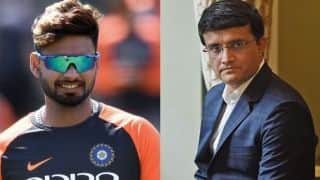 Sourav Ganguly unsure how Rishabh Pant would fit into India's 2019 ICC Cricket World Cup squad
