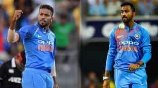 भारत के लिए साथ खेलने वाली तीसरी भाईयों की जोड़ी बने हार्दिक-क्रुणाल पांड्या