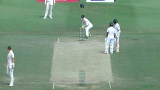 WATCH: Azhar Ali run out in bizarre manner during mid-pitch chat with Asad Shafiq