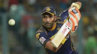 Robin Uthappa dismissed for 25 during Kolkata Knight Riders vs Sunrisers Hyderabad, Match 55 of IPL 2016