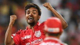 Sandeep Sharma takes two as Kolkata Knight Riders start cautiously against Kings XI Punjab in Match 14 of IPL 2015