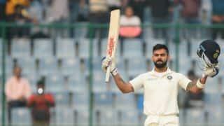 Virat Kohli 1st captain to score hat-trick of centuries in 3-Test series