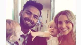 'Babysitter' Rishabh Pant meets Tim Paine's wife and kids