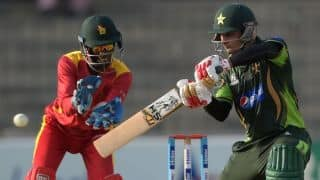 Mohammad Hafeez scores 26th ODI half-century in 1st ODI against Sri Lanka at Dambulla