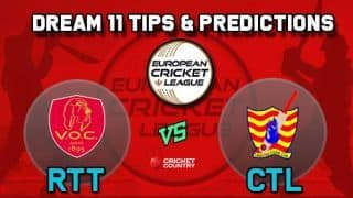 Dream11 Team RTT vs CTL Semi-final European Cricket League-T10 – Cricket Prediction Tips For Today's T10 Match VOC Rotterdam vs Catalunya Cricket Club at La Manga Club