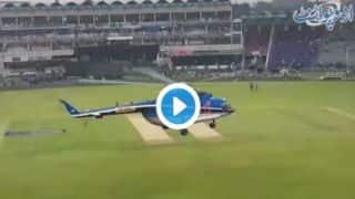 जब क्रिकेट स्टेडियम को सुखाने आए मिलिट्री के हेलीकॉप्टर