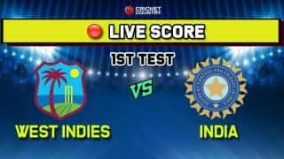 India vs West Indies live cricket score and ball by ball commentary, IND vs WI 1st Test, Day 1, live score at Antigua