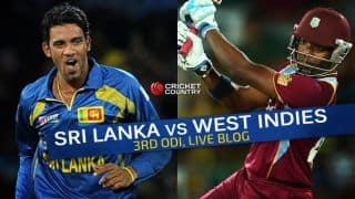 SL 180/5 in 27 Overs I Live Cricket Score Sri Lanka vs West Indies 2015, 3rd ODI at Pallekele: Sri Lanka won by 19 runs (D/L method)