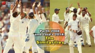 Similarities between Lord's 2014, Perth 2007-08