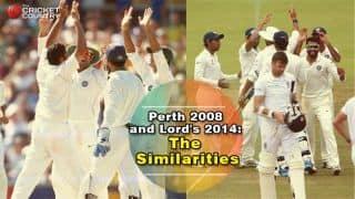 India vs England at Lord's 2014 and Australia vs India at Perth 2007-08 similarities