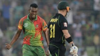 ICC World T20 2014: Al-Amin Hossain fined for abusing David Warner