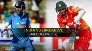 IND 126/0, 21.5 overs | India vs Zimbabwe 2016, Live Cricket Score, 3rd ODI at Harare: Get updates on live score and ball-by-ball commentary for IND's tour to ZIM: IND win by 10 wickets; clean sweep ZIM