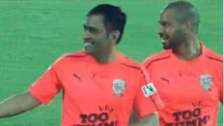 Dhoni's double-strike, Kohli's extra-time goal help cricketers triumph film stars 7-3