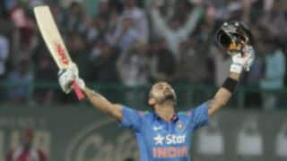 Virat Kohli's century guides India to 5-0 cleansweep against Sri Lanka with 3-wicket win in 5th ODI at Ranchi