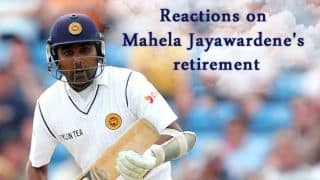Mahela Jayawardene retirement: Cricket fraternity's reactions