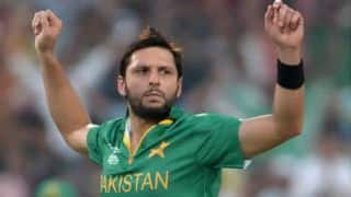 Shahid Afridi pulls out of World XI vs West Indies T20I
