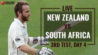 Live Cricket Score, New Zealand vs South Africa, 3rd Test, Day 4: NZ on top at stumps