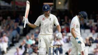 Rain forces early stumps; Cook repels visitors with 82*