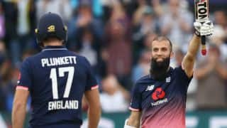 England vs West Indies, 3rd ODI: Moeen Ali's fireworks, Chris Gayle's 94, Liam Plunkett's 5-star show and other highlights