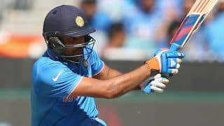 Rohit Sharma and Suresh Raina bring up 50-run stand against Bangladesh in quarter-final of ICC Cricket World Cup 2015