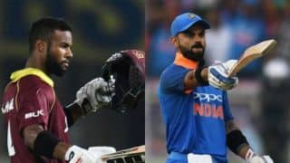 2nd ODI: Hope clinches last-ball tie after Kohli enters club 10K