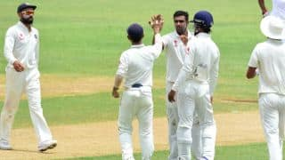 Ashwin's 5-52 allows IND to bowl out WI for 196 on Day 1 of 2nd Test