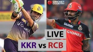 Live IPL 2017 Scores, KKR vs RCB, IPL 10, Match 27: RCB on verge of big defeat