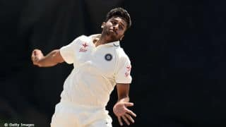 India A bowler Shardul Thakur hits Cameron Bancroft twice in a match
