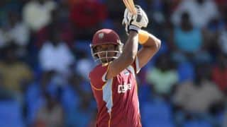 Sri Lanka vs West Indies ICC World T20 2014 semi-final: Dwayne Bravo leads chase of 161; score 53/3 in 10 overs