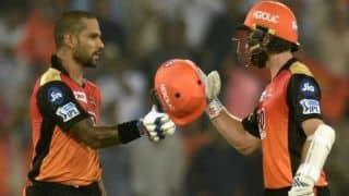 केन विलियमसन, शिखर धवन ने जड़े अर्धशतक, चेन्नई सुपरकिंग्स के सामने जीत के लिए 180 का लक्ष्य