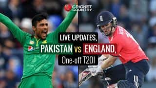 PAK 139/1 in 14.5 ovs | Pakistan vs England Live Score, One-off T20I : PAK win by 9 wickets