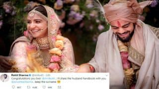 Rohit Sharma shares tips with newlyweds Kohli, Anushka